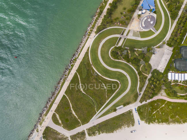 High Angle View Of Miami Beach — Stock Photo