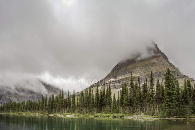 Scenic view of Hidden Lake Glacier National Park — Stock Photo