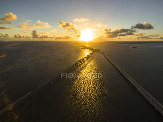 Tramonto a Big Pine Key, Florida, Stati Uniti — Foto stock