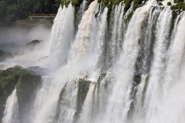 Vista aerea delle cascate di Iguazu dal lato argentino — Foto stock