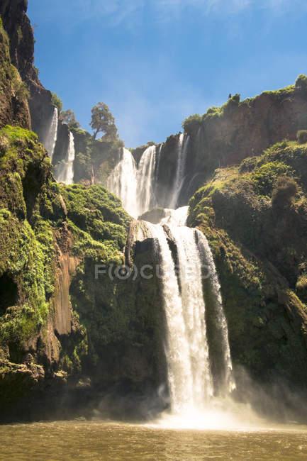 Spectacular Cascades Douzoud Waterfalls In Atlas Mountains — Stock Photo