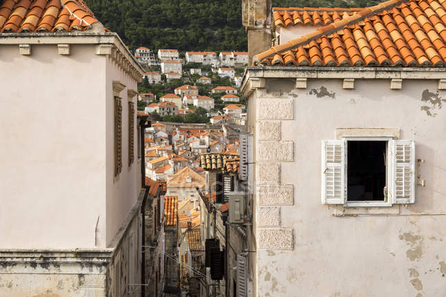 Terracotta Rooftops In Old Town Dubrovnik, Croatia — Stock Photo