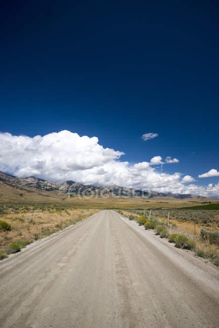 Рубин-Валли-роуд в штате Невада — стоковое фото