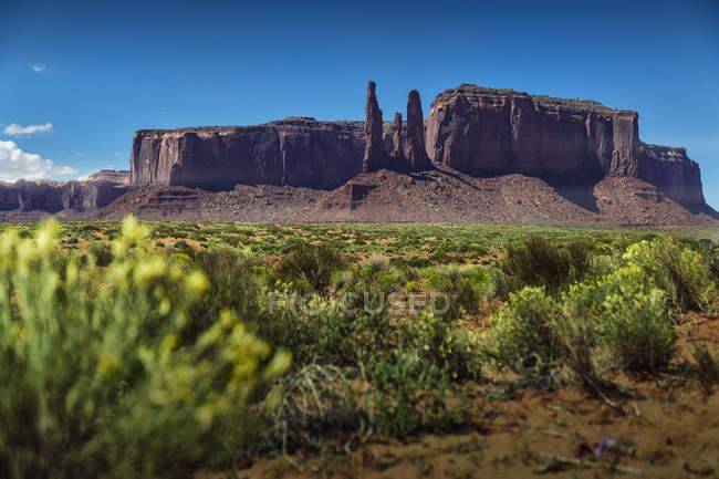 Мальовничий вид на навахо Націй пам'ятник долини парк — стокове фото