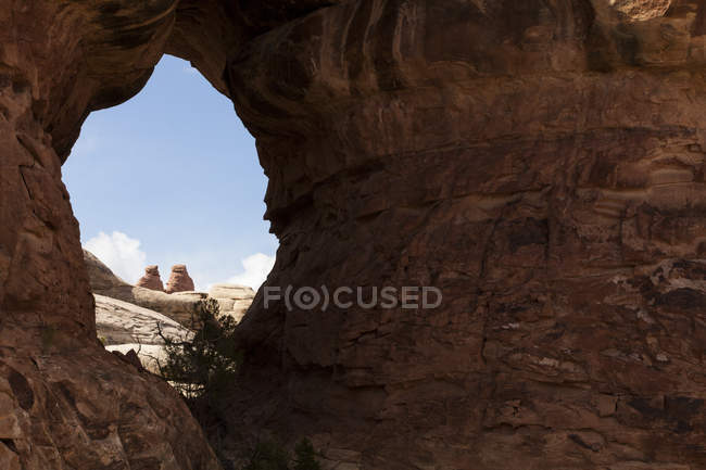 Rock formations in the Chesler Park region of Canyonlands National Park near Moab, Utah — Stock Photo