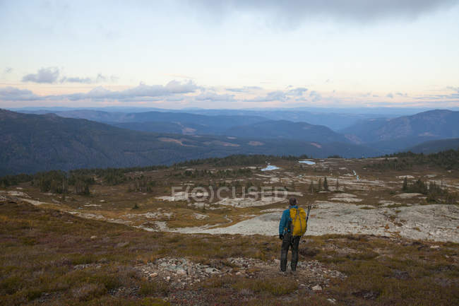 Backpacking in Illal Meadows, British Columbia, Canada. — Stock Photo