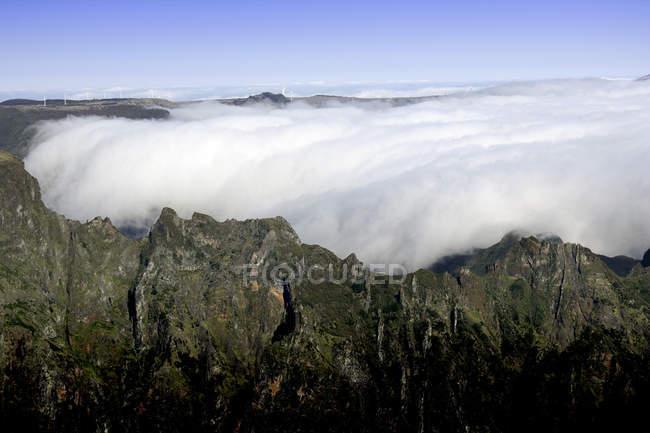 Pico do Areeiro mountain peak in Madeira, Portugal — Fotografia de Stock