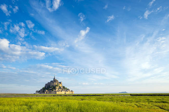 Abbazia di Mont-Saint-Michel, Unesco World Heritage Site, Normandia, Francia — Foto stock