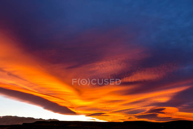 Sierra Wave Cloud Formation In California, Usa — Stock Photo