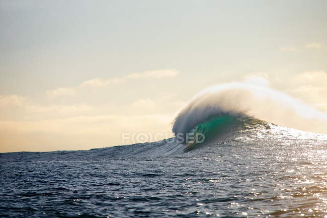 Big Wave Over The Sea In Lincoln City, Oregon — Stock Photo