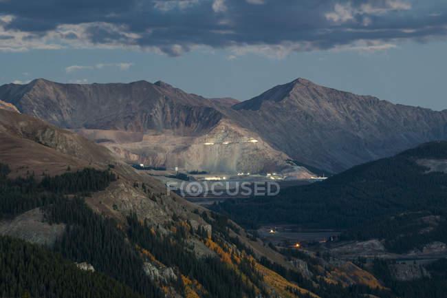 Mine à ciel ouvert Climax molybdène sur Fremont Pass, Colorado — Photo de stock