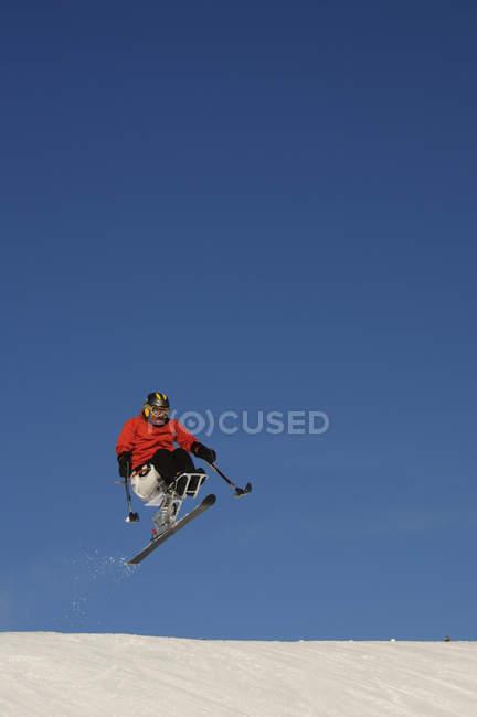 Homem de esqui em Crested Butte, Co — Fotografia de Stock