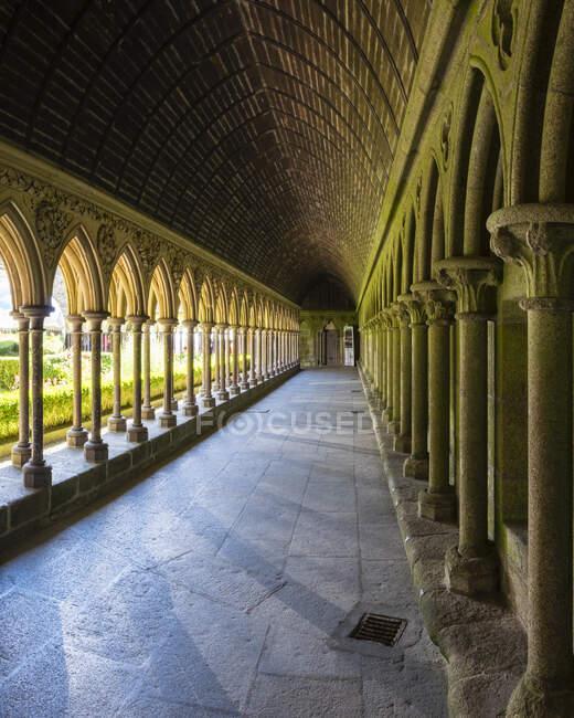 Frankreich, Normandie, Departement Manche, Mont-Saint-Michel. Abbaye du Mont-Saint-Michel, UNESCO-Weltkulturerbe. — Stockfoto