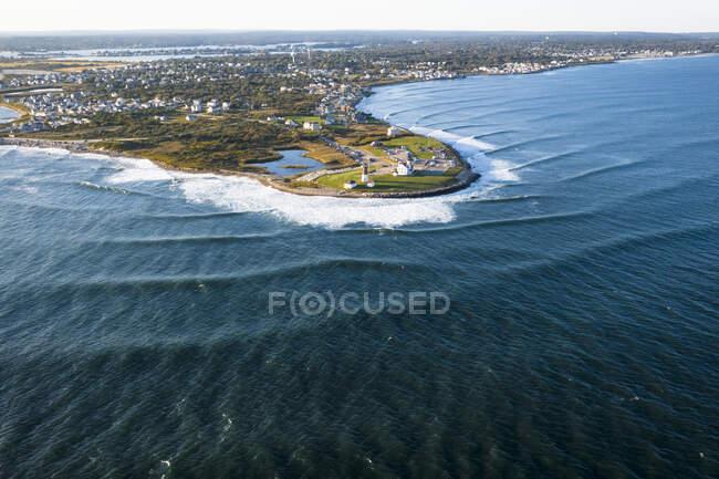 Vista aérea de la playa de Nueva Inglaterra - foto de stock