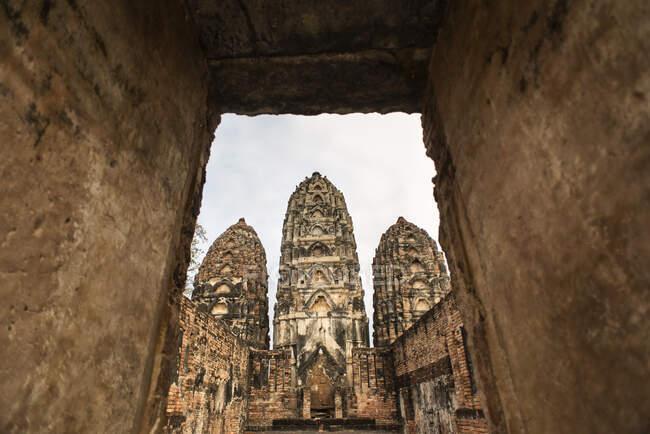 Wat Si Sawai temple, Sukhothai Historical site, Sukhothai, Thailand. — Stock Photo