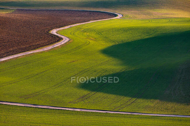 Detail of a rural landscape in Turiec region, Slovakia — Stock Photo