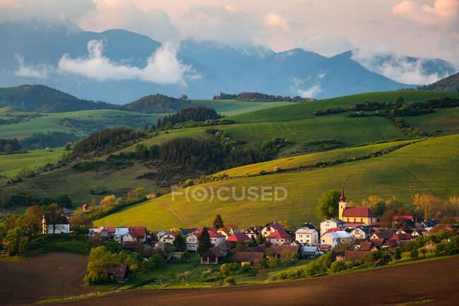 Село Турчанске-Ясено Турецкой области, Словакия — стоковое фото