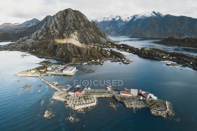 Reine, Moskenesy, Islas Lofoten, Noruega - foto de stock