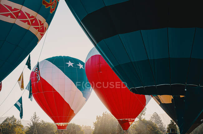 Hot Air Balloons in Summer. Transportation — Stock Photo