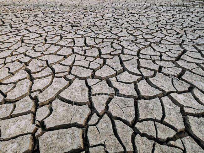 Частина величезного району засушених земель, що потерпає від посухи. — стокове фото