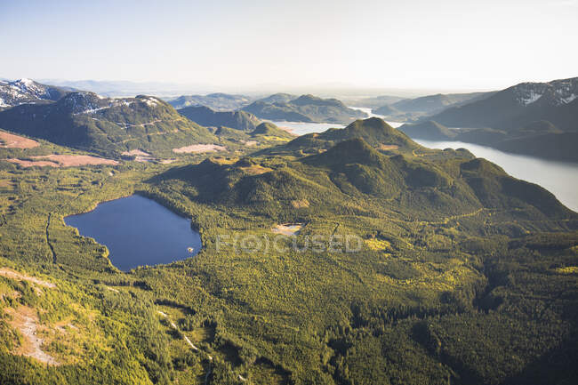 Красивый британский ландшафт Колумбии — стоковое фото