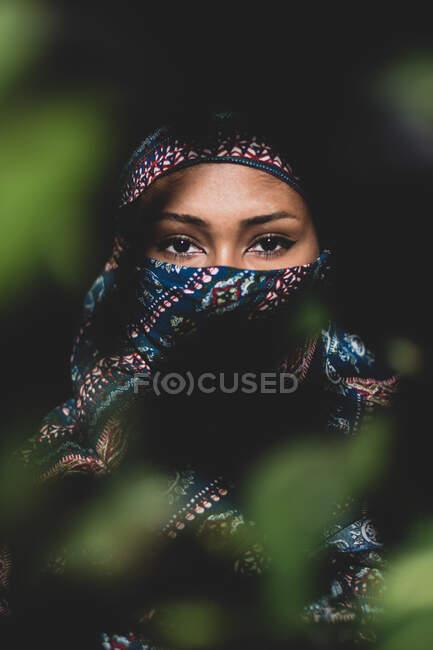 Young beautiful  woman wearing a hijab — Stock Photo