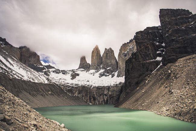 Parque Nacional Torres del Paine, no sul da Patagônia chilena — Fotografia de Stock