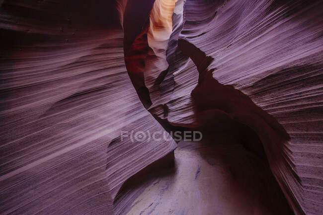 Unique orange sandstone formations in Antelope Canyon — Stock Photo