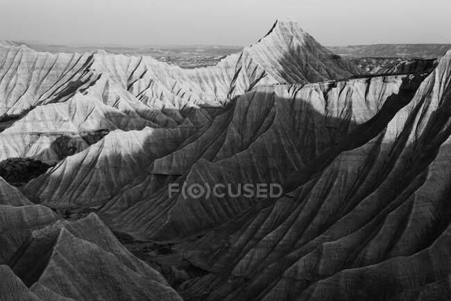 Барденас Реалес. Пустынный ландшафт Барденас в Наварре, Испания — стоковое фото