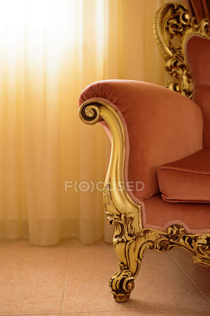 Vintage detail of interior living room in baroque and rococo style. — Stock Photo
