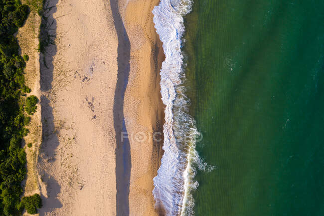 Aerial view above of Taquara beach, Bal Cambori, Brazil. — Stock Photo