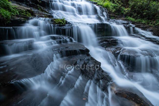 Minnehaha Falls in Chattahoochie Nat 'l Forest, Geórgia — Fotografia de Stock
