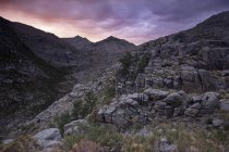 Geres Mountains under sunset sky — Stock Photo
