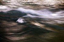Kananaskis River flow, long exposure shot — Stock Photo