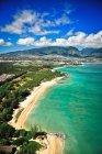 Vista aérea da Costa azul, na ilha de Maui, Havaí — Fotografia de Stock