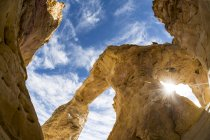 Grosvenor Rock Formation Arch and clouds — Stock Photo