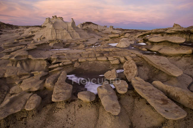 Eroded sandstone rock formations — Stock Photo