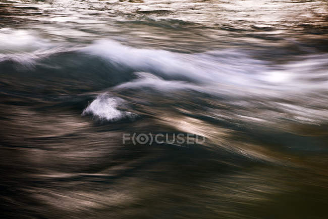 Kananaskis River flow, long exposure shot — Stock Photo