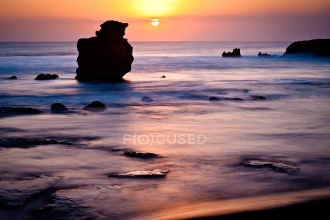 Beach in sunset light — Stock Photo