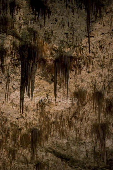 View of geological formations inside cave — Stock Photo