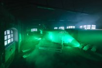 Space shuttle indoor green — Stock Photo