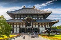 Buddhist Todai-ji temple complex in city Nara, Japan. — Stock Photo