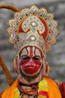 Holy man dressed as Hanuman deity in Kathmandu, Nepal — Stock Photo