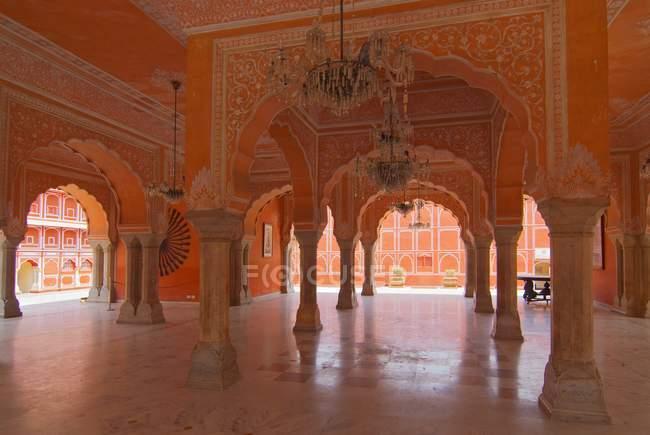 Hall of Public public au City Palace, Jaipur, Rajasthan, Inde — Photo de stock