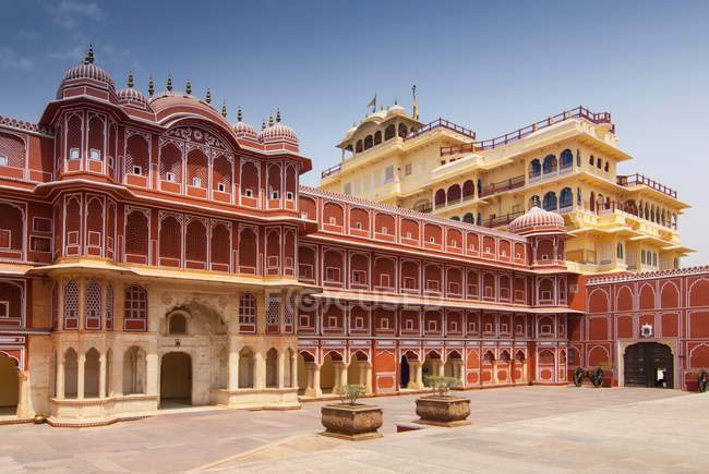Chandra Mahal résidence royale au City Palace, Jaipur, Rajasthan, Inde — Photo de stock
