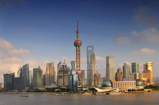 Pudong district skyline of Shanghai, China. — Stock Photo
