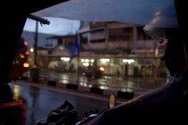 Autista di Becak a Medan, Indonesia — Foto stock