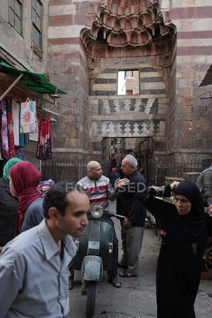 Multidões no Cairo, Egito islâmico — Fotografia de Stock