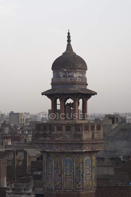 Wazir Хана мечеть, побудована в епоху Шах Джахан в межах стіною міста Лахор — стокове фото