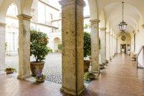 Villa d Эсте небом, Тиволи, Лацио, Италия, Всемирного наследия ЮНЕСКО — стоковое фото